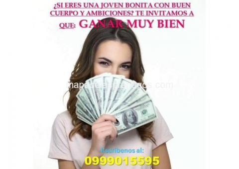 Trabajo de escort en Quito $300 diario más las propinas