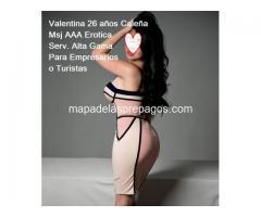 Valentina, encatadora y Sensual Mod AAA Caleña para Empresarios Serv Alta Gama 0987009964